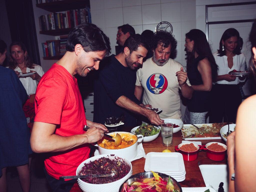 Martínez with Chef Ignacio Mattos and Jay Strell