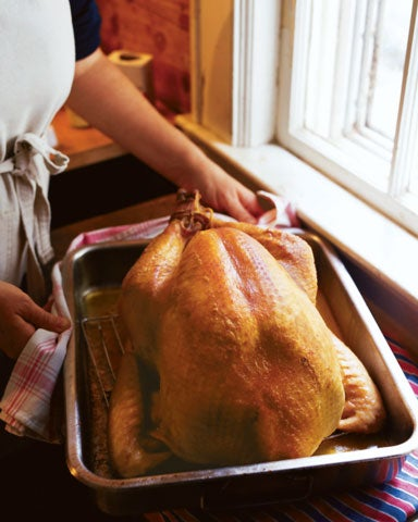Thanksgiving Roast Turkey with Corn Bread Dressing