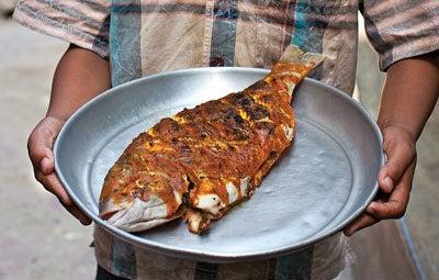 Grilled Whole Fish with Tamarind (Samaki Wa Kupaka)
