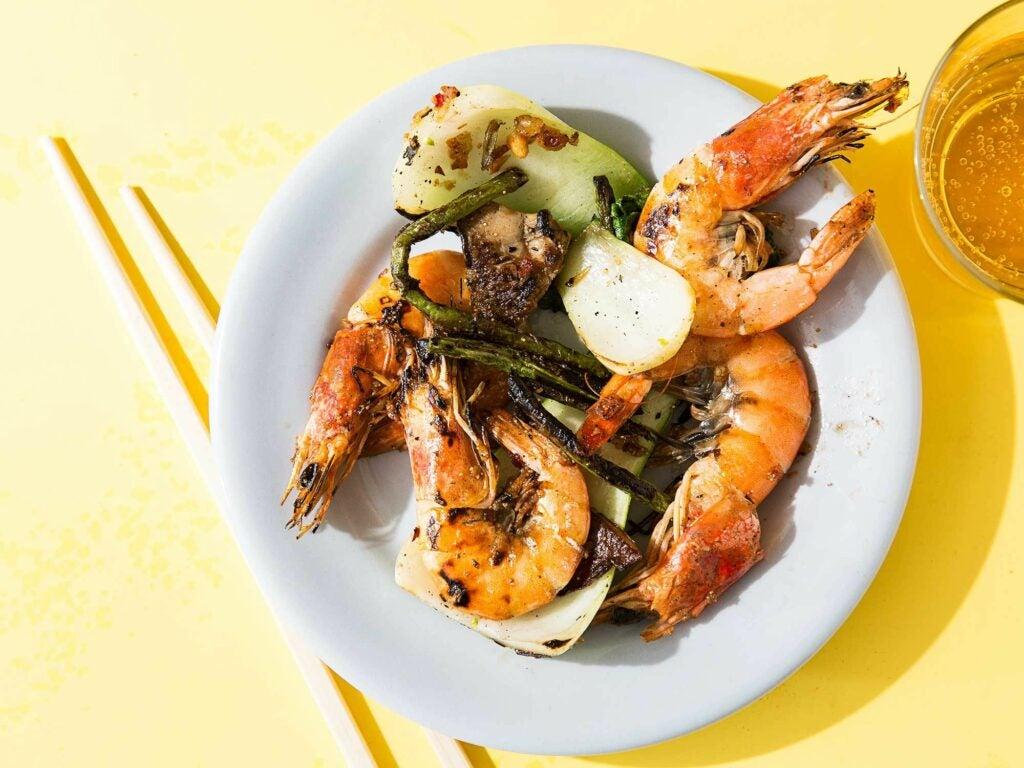 Stir-Fried Shrimp and Long Beans with XO Sauce
