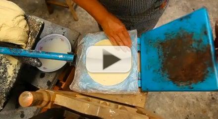 Making Tortillas in Puebla
