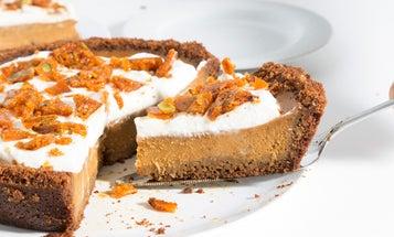 Pumpkin Pie with Graham Cracker Crust and Pepita–Sage Brittle