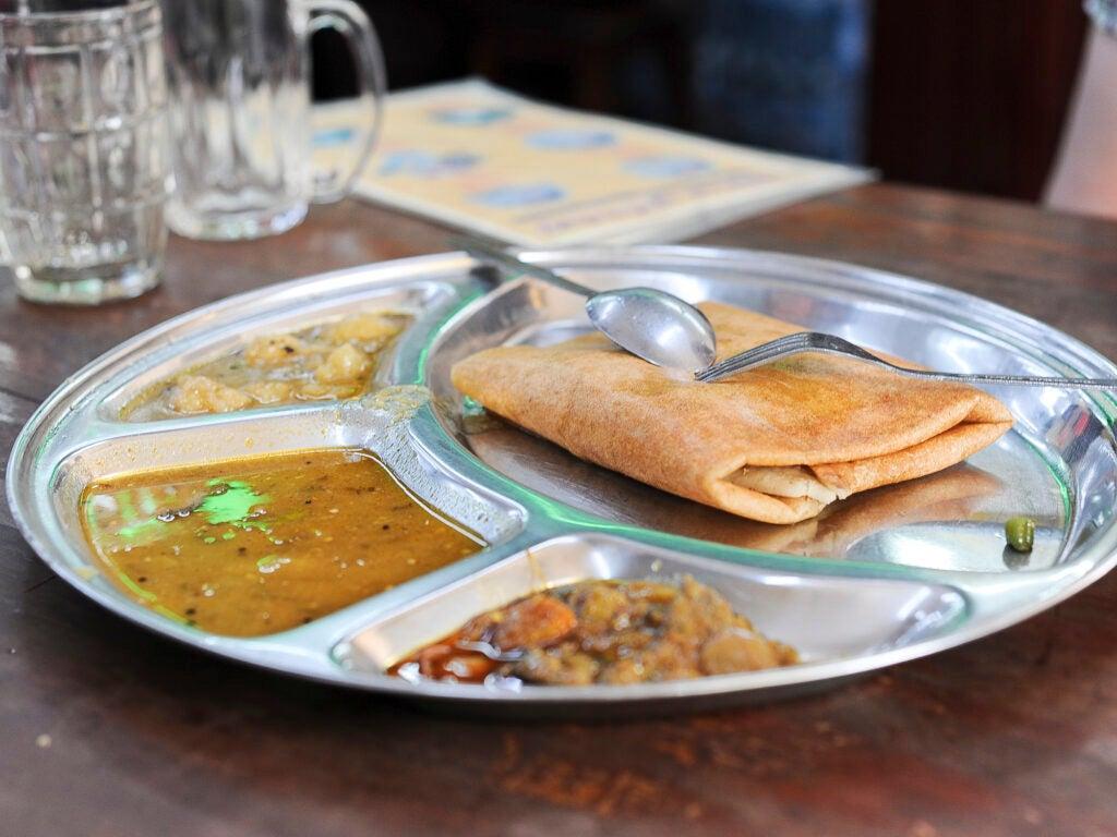 Burmese street food Dosa