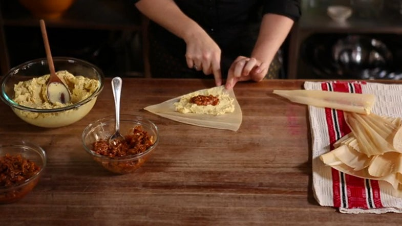 VIDEO: How to Fill and Roll Tamales