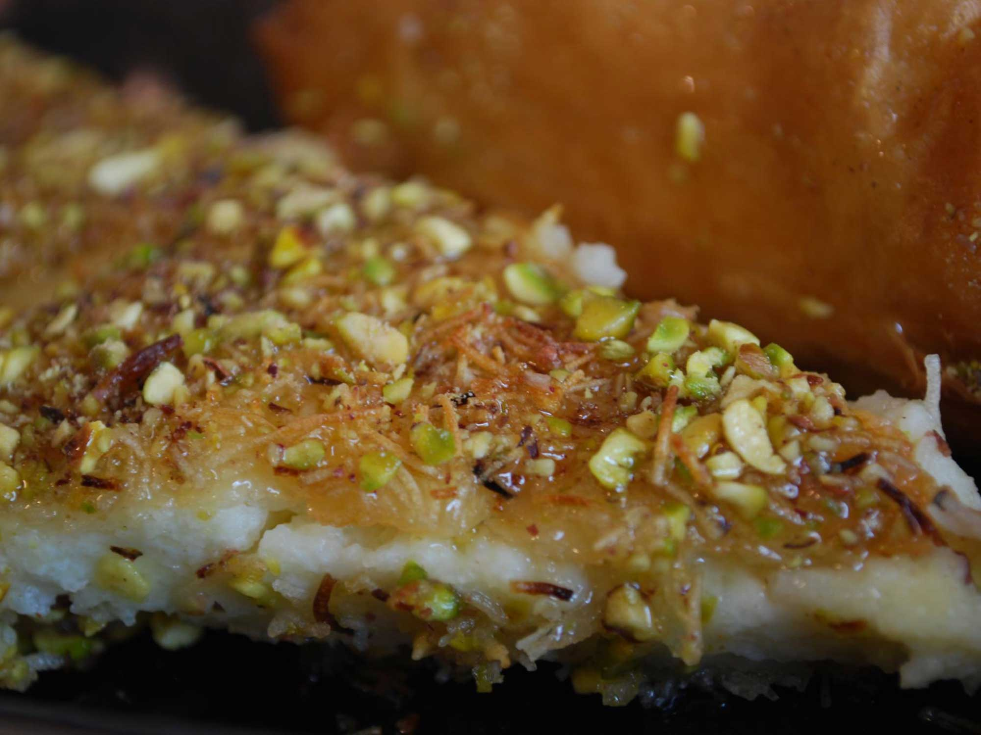 Kanafeh is What Happens When Baklava Meets Mozzarella Sticks