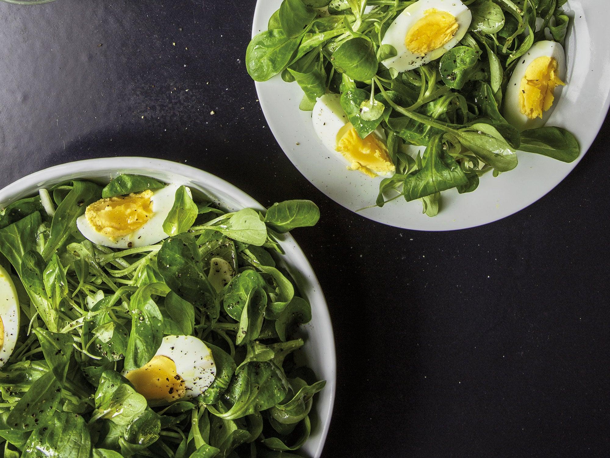 Mache & Egg Salad