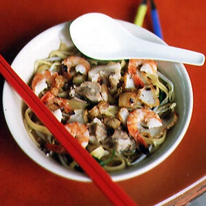 Kway Teow Soup with Shrimp and Pork
