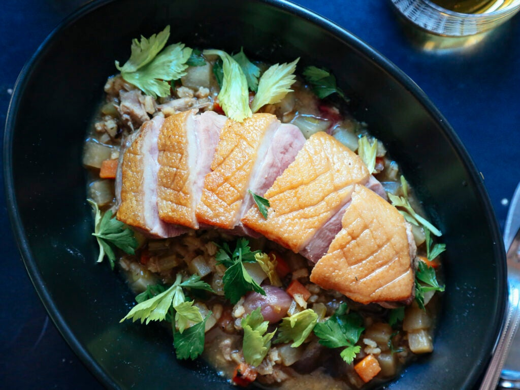 Duck Breast with Scotch Broth