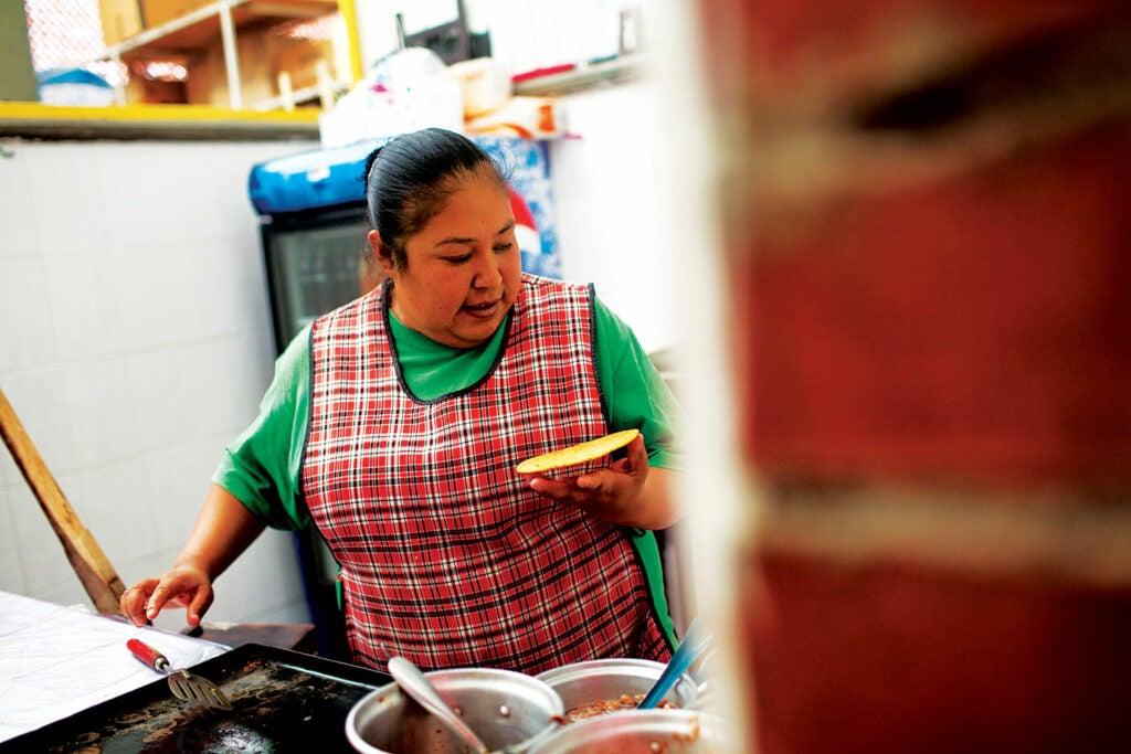 A vendor in the Juarez Market of Guadalajara