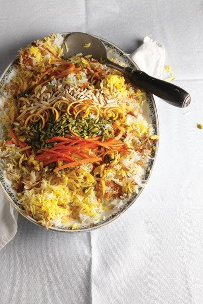 Iranian Rice Pilaf (Shirin Polow)