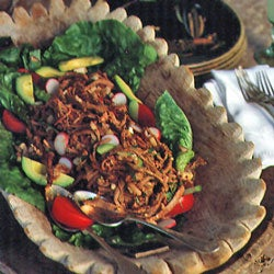 Shredded Beef Salad with Chipotle Dressing