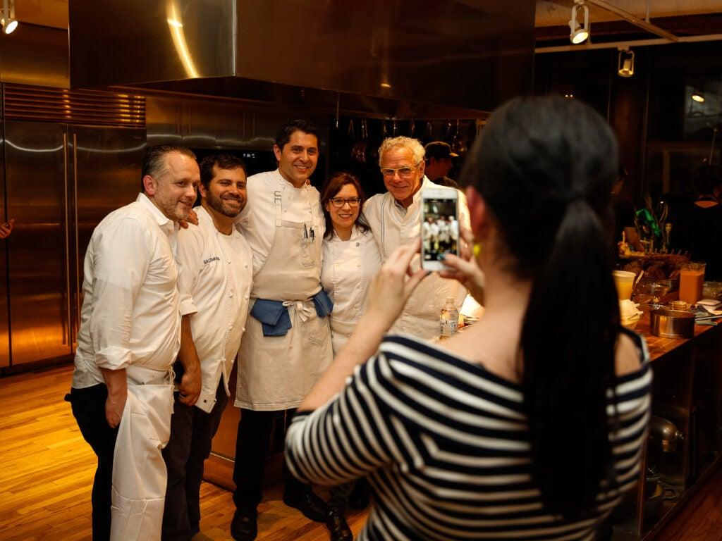 From left to right: Chef Edwin Bellanco, Chef Galen Zamarra, Chef Shea Gallante, Chef Amy Thielen, and Chef David Bouley