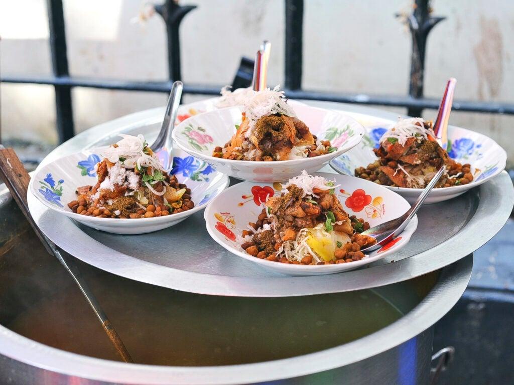 Burmese street food Samosa Salad