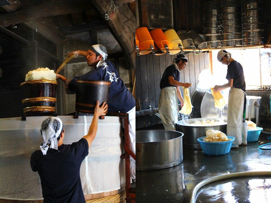 Terada Workers Steaming Rice