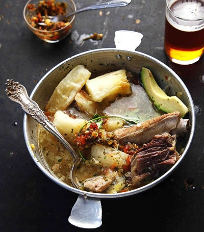 Pork, Beef, and Chicken Soup (Puchero)