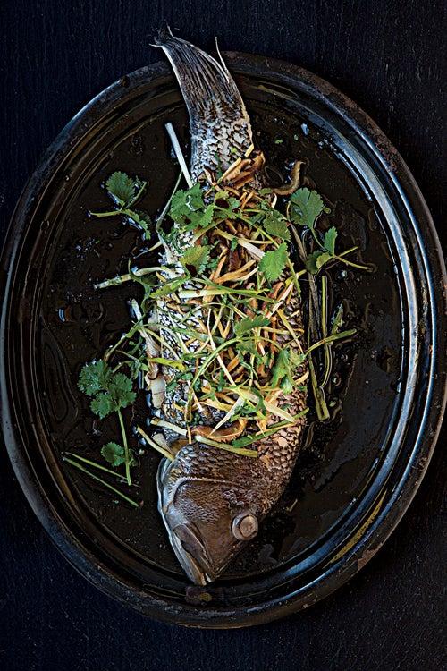 Cantonese-Style Steamed Sea Bass