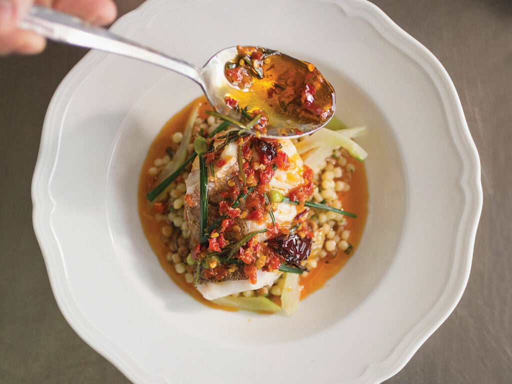 Steamed Grouper in Chile Oil