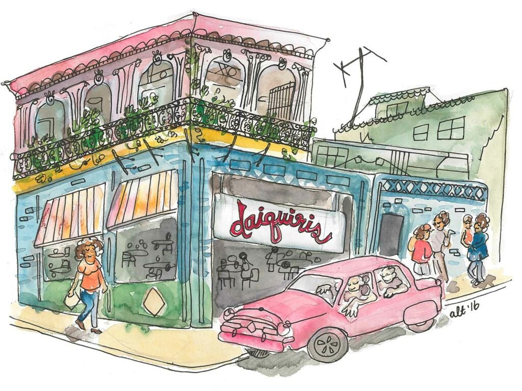 Cuban bars illustration