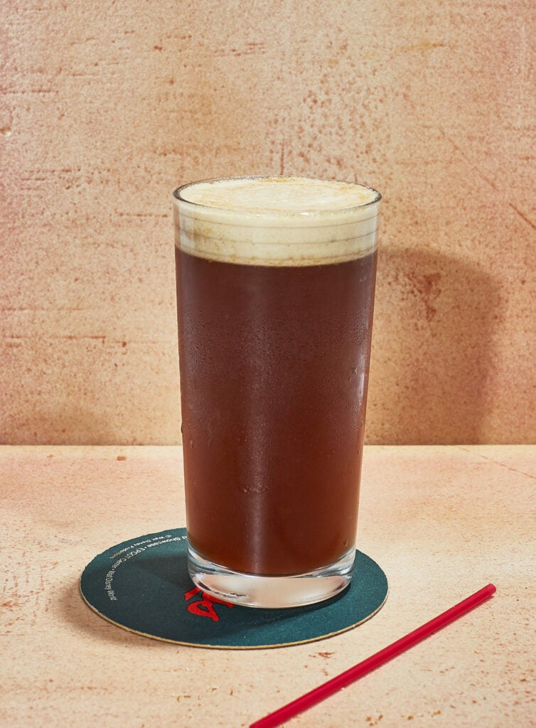 Rye fizz with sherry and lemon