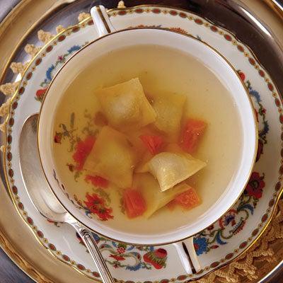 Veal and Escarole Ravioli (Agnolotti)