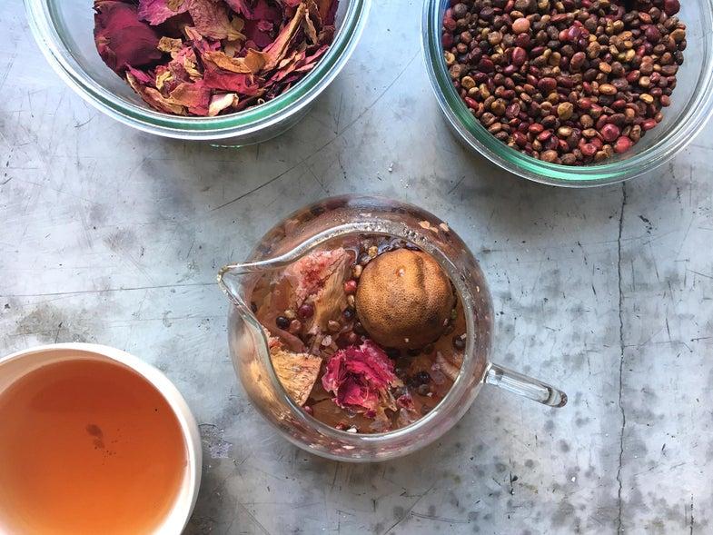 Sumac, Hibiscus, Dried Lime Herbal Tea