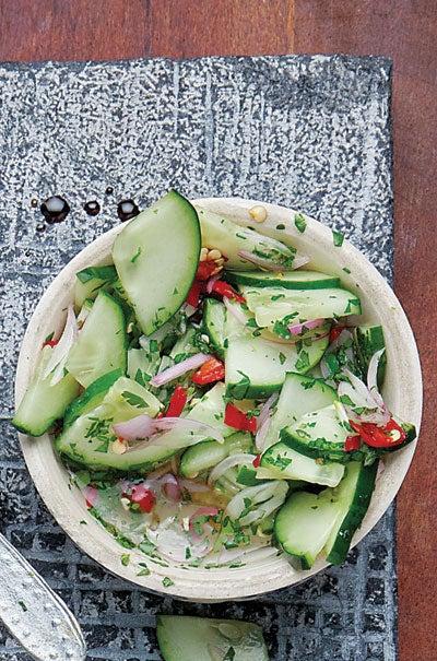 Thai Cucumber Relish (Ajad)