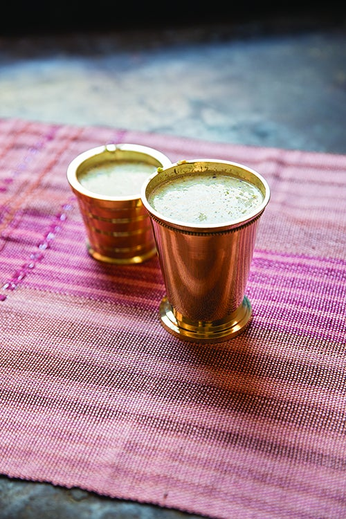 Steamed Milk with Pistachios and Almonds (Masala Paal)