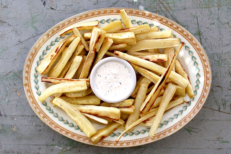 Roasted Parsnips with Horseradish Mayonnaise