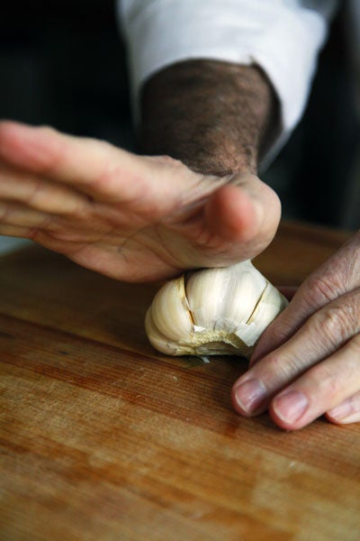 Jacques Pépin on How to Chop Garlic