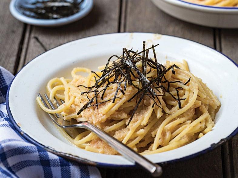 Mentaiko Spaghetti (Tokyo-Style Fish Roe Pasta)