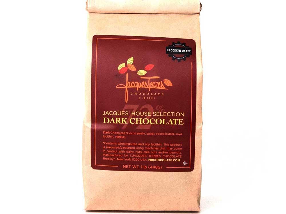 Dark chocolate baking discs