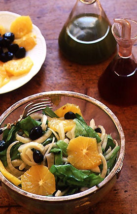 Sicilian Fennel Salad with Oranges, Arugula, and Black Olives