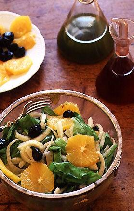 Sicilian Fennel Salad with Oranges, Arugula, and Black Olives