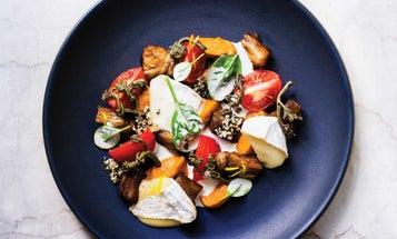 Warm Eggplant Salad with Hemp Seed Sauce