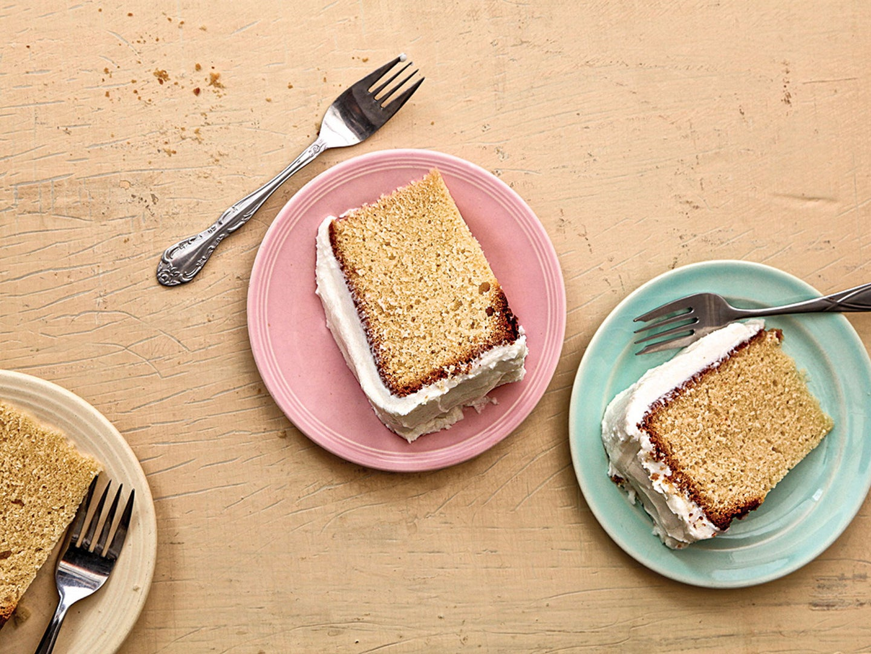 Hot Milk Cake with Vanilla Buttercream