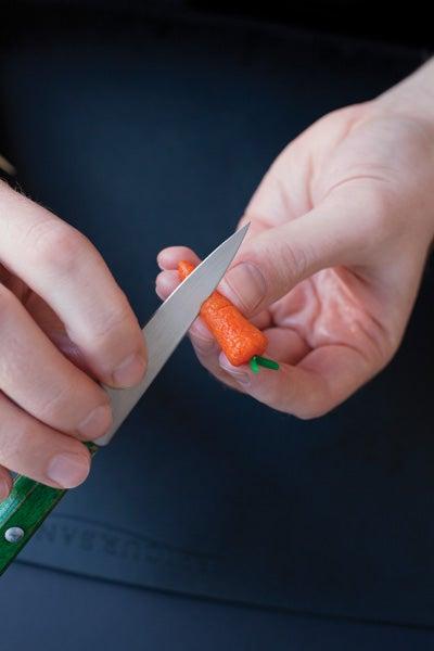 Making Marzipan Carrots