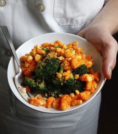 Broccoli with Cheetos