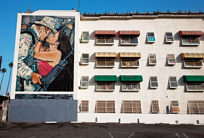 A mural in downtown LA