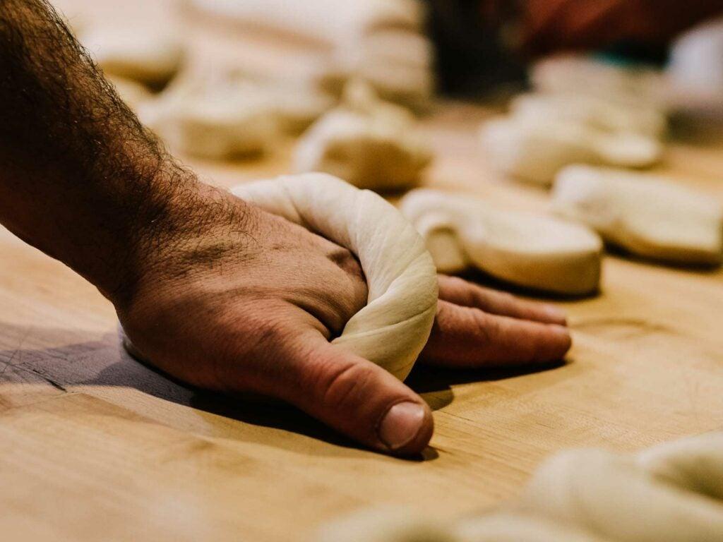 Forage Market Bagels Rolling