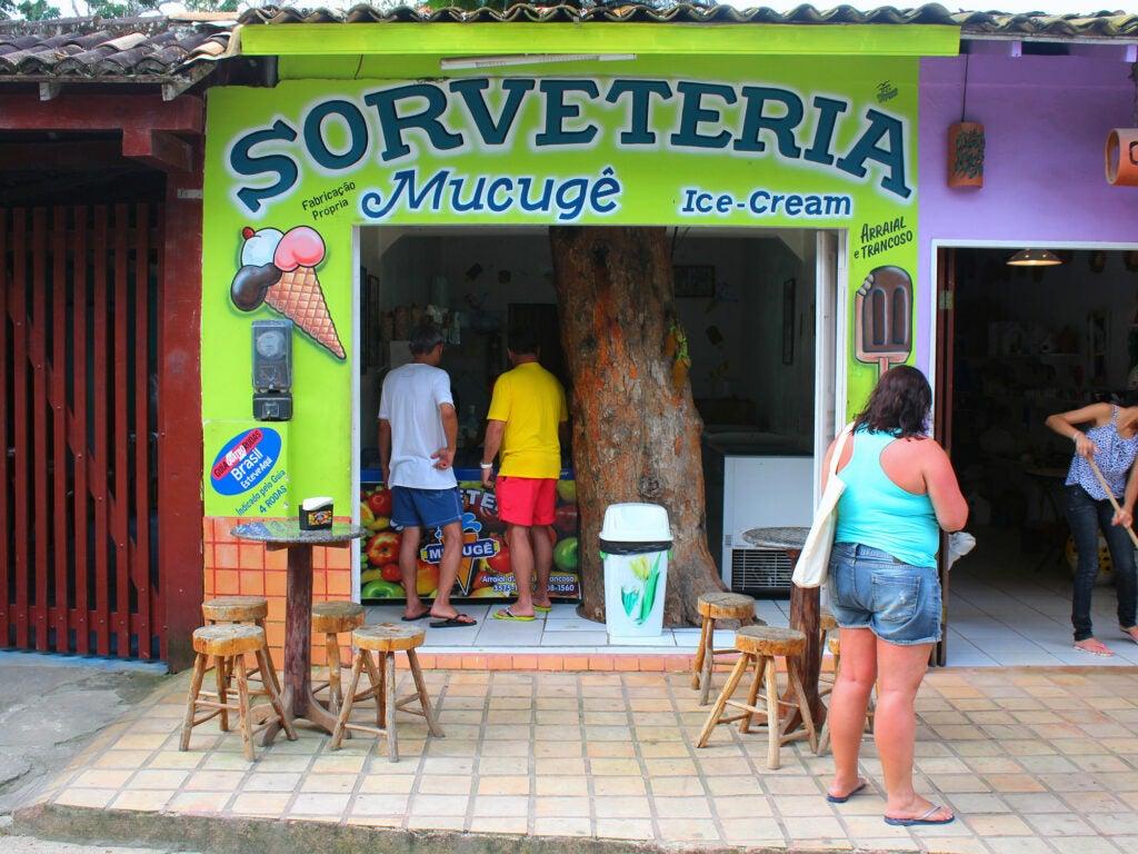 Sorveteria in Trancoso, Brazil