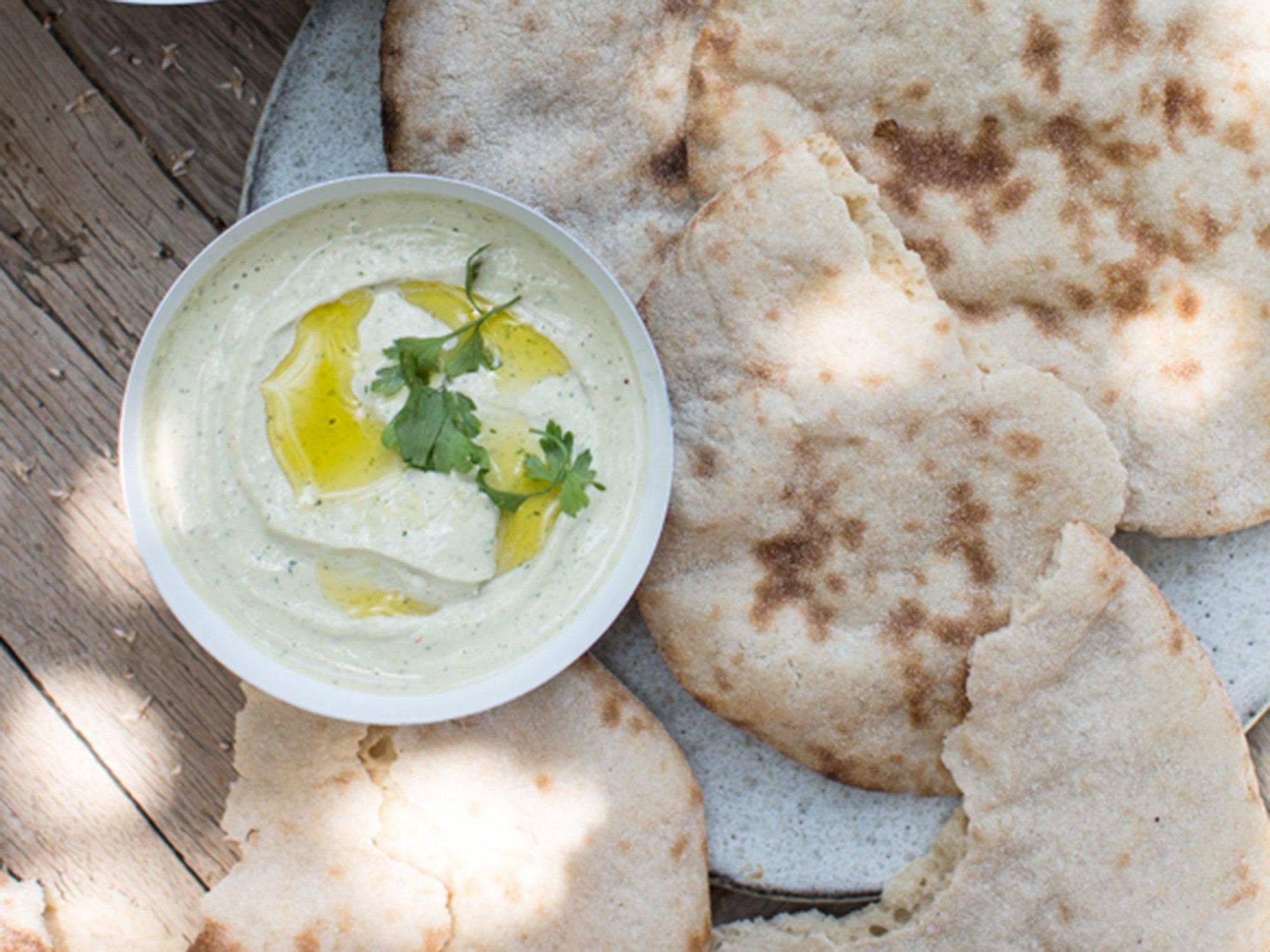 Egypt, recipe, parsley tahini