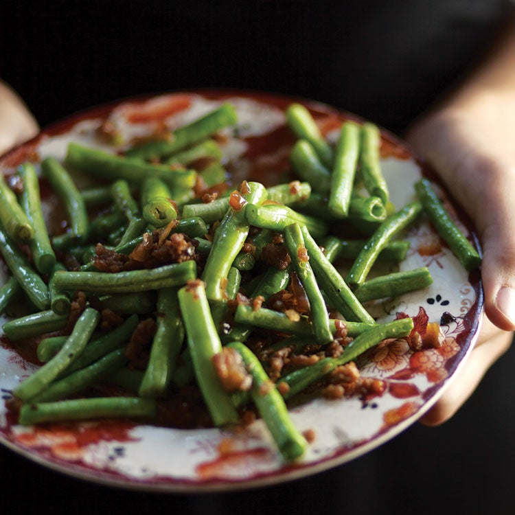 Dry-Fried Green Beans (Gan Bian Si Ji)