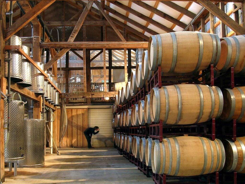 Unionville Vineyard Barrel Room