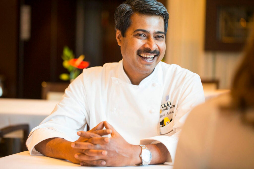 Chef Raj chats with the SAVEUR team