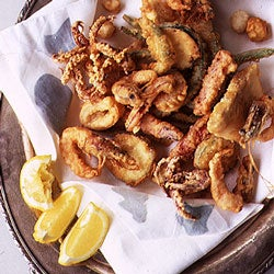 Fritto Misto (Mixed Fried Seafood and Vegetables)