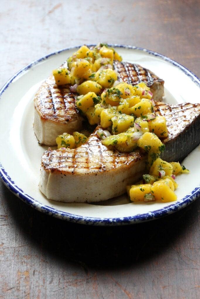 Grilled Swordfish with Mango Salsa