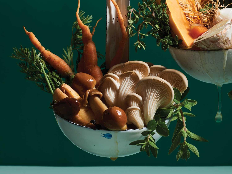 Roasted Mushroom Stock