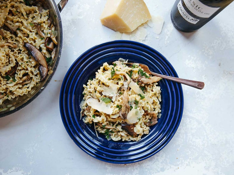 Pasta with Mushroom Trifolata