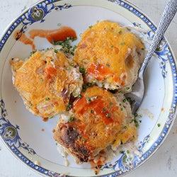 Sausage Gravy and Cheddar Biscuit Pot Pie