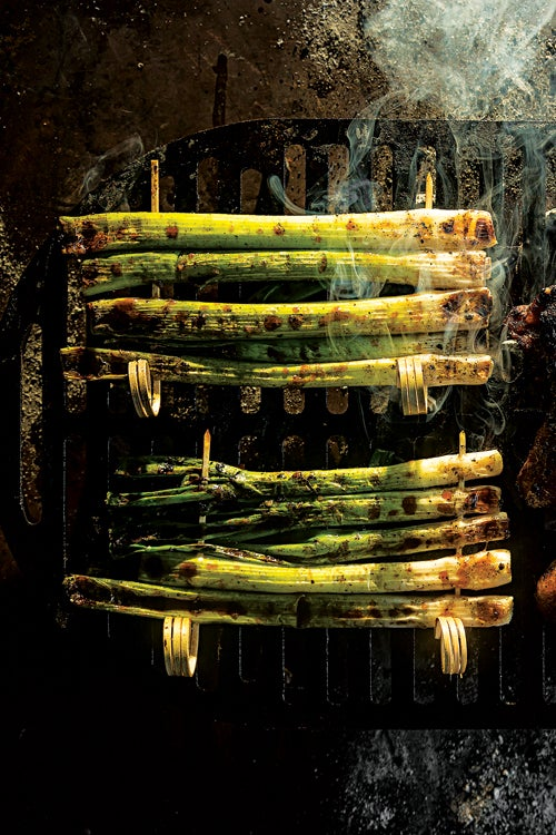 Grilled Scallion Skewers (Kao Xiang Cong)